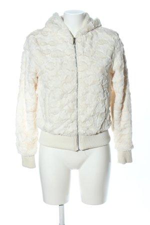Chaqueta de piel sintética blanco puro look casual