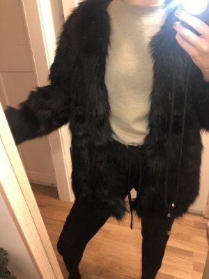 H&M Veste en fausse fourrure noir