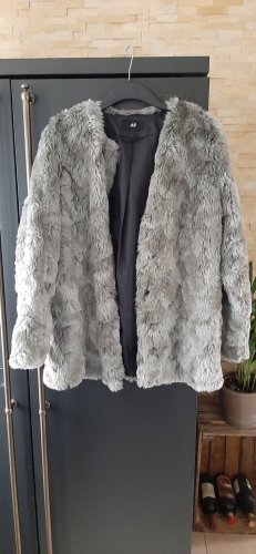 H&M Fake Fur Jacket multicolored