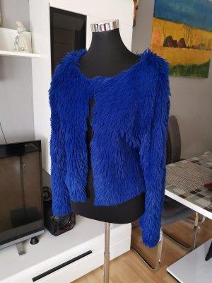 Giacca in eco pelliccia blu