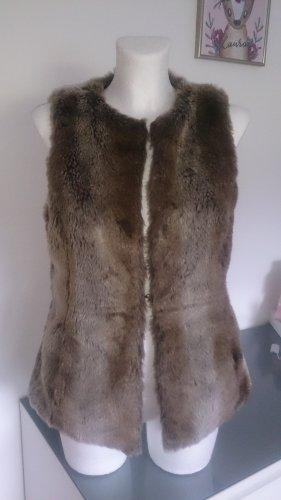 Urban Surface Fake Fur Vest brown