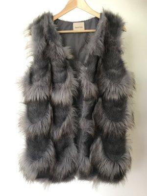 Sweet Miss Smanicato di pelliccia argento-malva Pelliccia ecologica