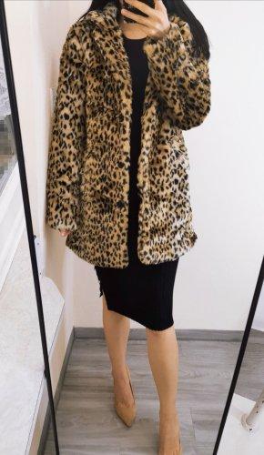 Kunstfur Mantel Leo Leopard Animalprint