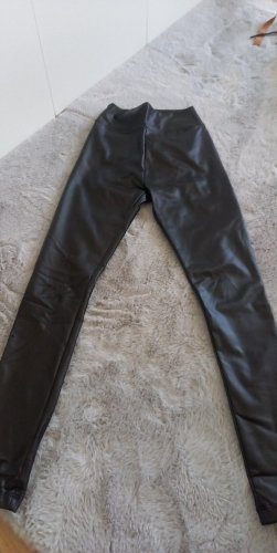 Primark Faux Leather Trousers black
