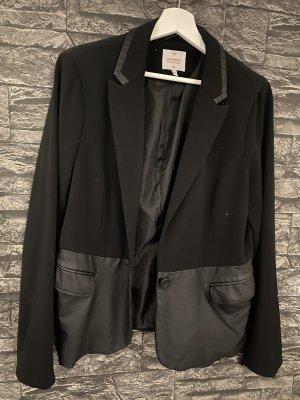 C&A Clockhouse Blazer en cuir noir