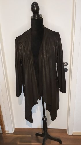 Sleek Chic Leather Blazer black