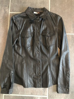 Only Leather Blouse black