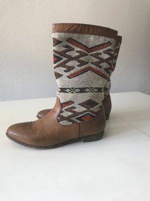 Kunstleder Folklore Stiefel Vintage