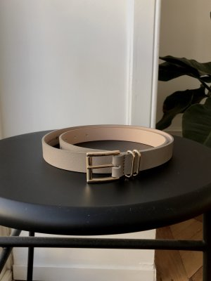 H&M Faux Leather Belt grey brown