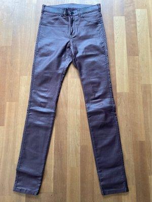 Dr. Denim Faux Leather Trousers purple