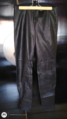 H&M Pantalon en cuir noir