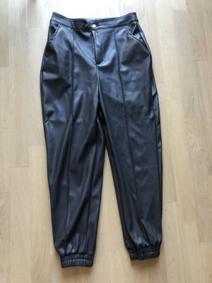 Nasty Gal Faux Leather Trousers dark brown
