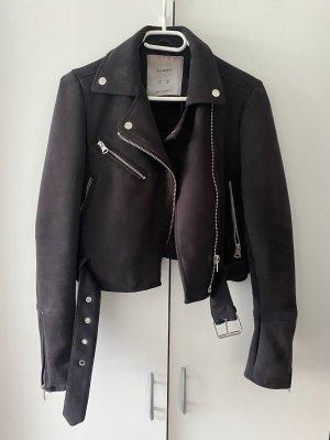 Pull & Bear Veste en cuir synthétique noir