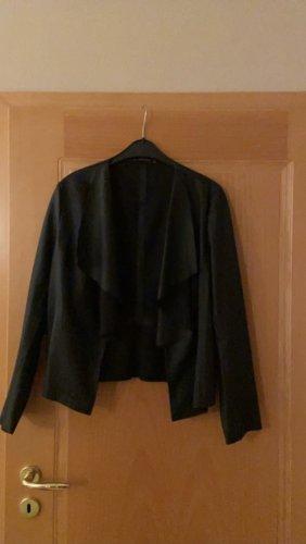 Zara Leren blazer zwart