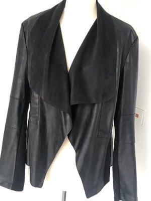 Tally Weijl Veste en cuir synthétique noir polyuréthane