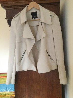 River Island Giacca in ecopelle bianco sporco Poliestere