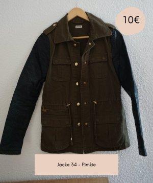 Kunstleder Jacke / Größe 34