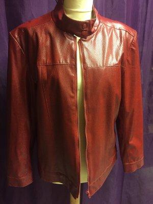 Cibyll Faux Leather Jacket bordeaux