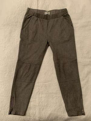 Minimum Leren broek grijs