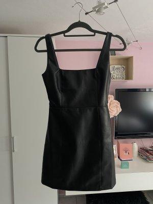 ASOS DESIGN Leren jurk zwart