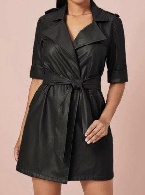 Kunstleder-Kleid Gr.S Gr.36 schwarz Lederkleid NEU