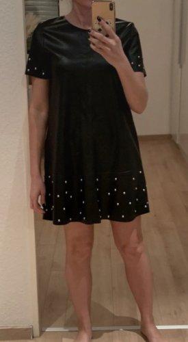 Kunstleder Kleid mit Nieten