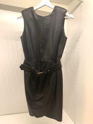 Kunstleder Kleid von Zara