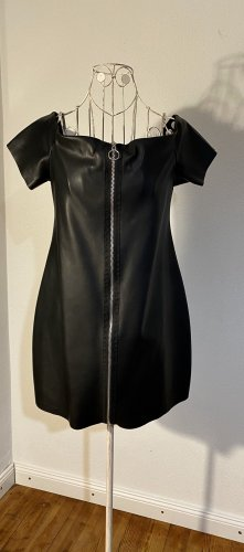 Zara Trafaluc Leather Dress black