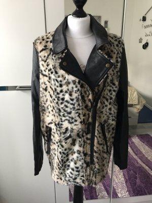 Kunstleder/Leoparden Jacke