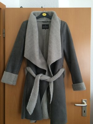 Review Fake Fur Coat light grey-grey polyester