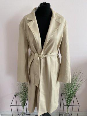 Kunstleder Mantel beige Zara XS neu