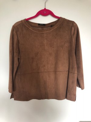 Opus Leather Blouse brown