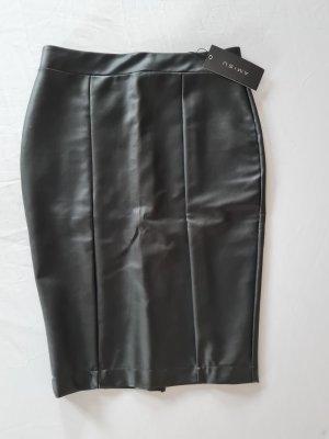 Amisu Jupe en cuir synthétique noir