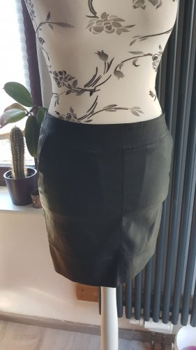 Only Faux Leather Skirt black polyurethane
