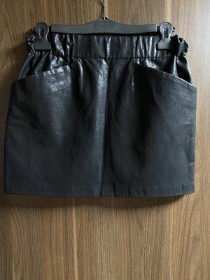 Zara Basic Rok van imitatieleder zwart