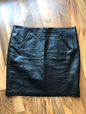 BAF Jupe en cuir synthétique noir