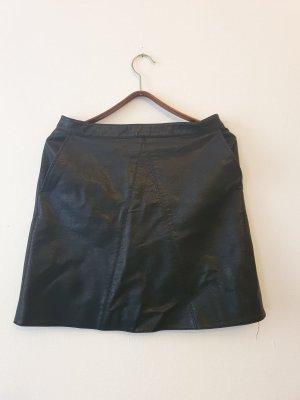 Zara Rok van imitatieleder zwart Polyurethaan