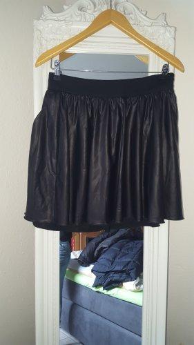 Edc Esprit Faux Leather Skirt black