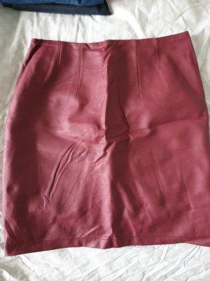 H&M Leather Skirt bordeaux