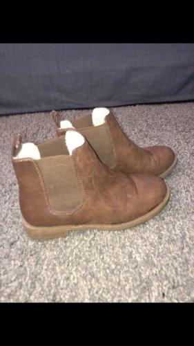 H&M Fur Boots brown