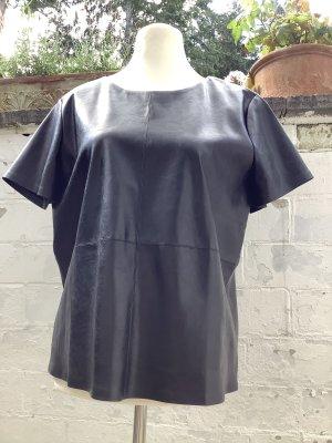 Opus Blouse en cuir noir