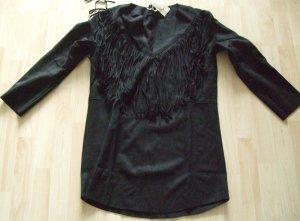 Camisa de cuero negro Poliéster