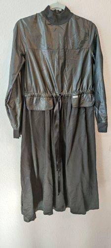 INDIGO Robe en cuir noir