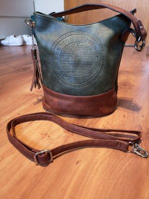 Tasche, Umhängetasche, Handtasche, grün, braun
