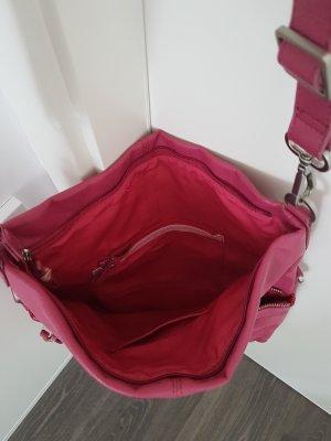 Kunstleder Umhängetasche von Esprit - pink