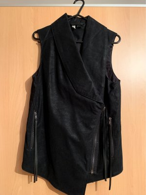 H&M Divided Gilet en cuir noir