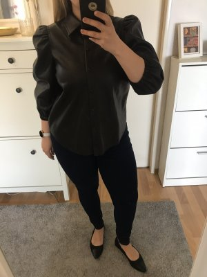 Vero Moda Leather Blouse black