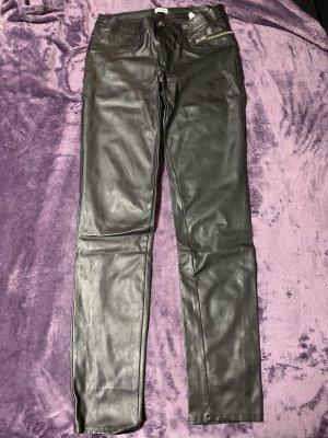 Pimkie Leather Trousers black imitation leather