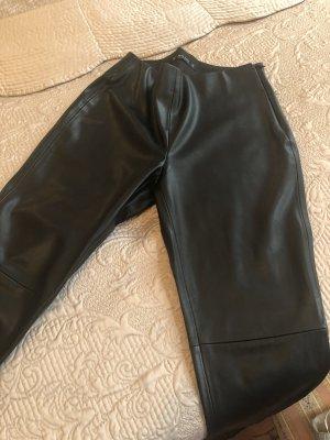 Zara Basic Pantalón de cuero negro