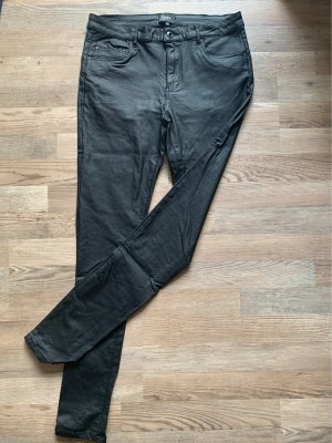 Only Pantalón de cuero negro